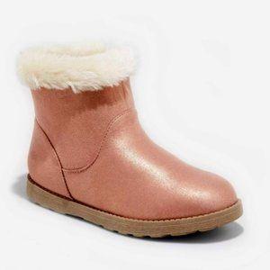 NWT Cat & Jack Big Girls Shearling Boots Pink Sz 5